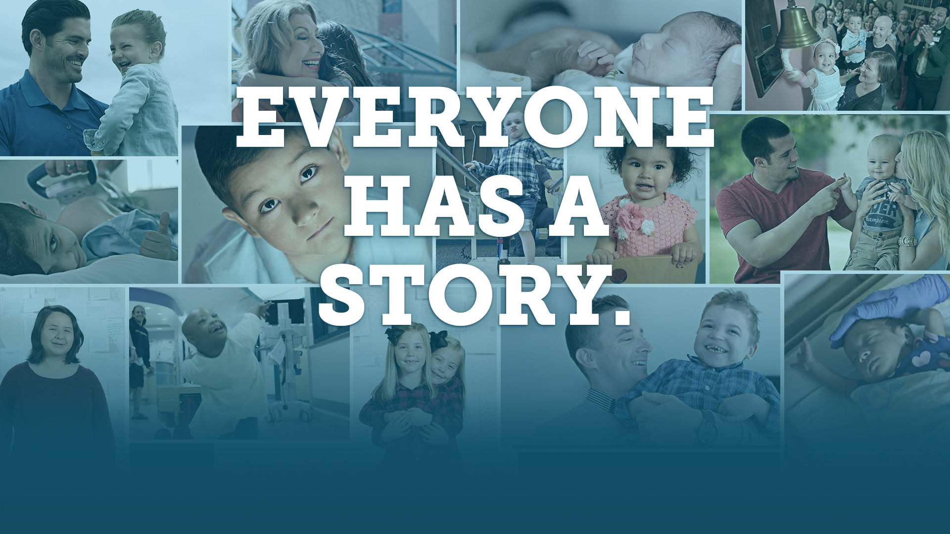 Everyone has a story picture collage