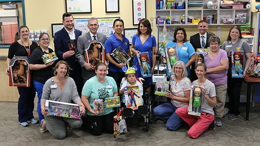 Disney's Team of Heroes Surprises Patients with Toys, Treats and Toy Story 4