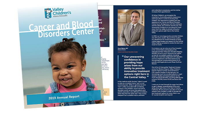 Valley Children's 2019 Cancer and Blood Disorders Annual Report