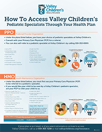 How to Access Valley Children's Pediatric Specialists Through Your Health Plan
