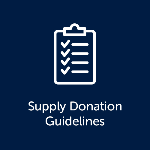 Supply Donation Guidelines