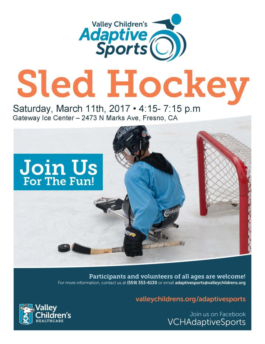 sports program template free - adaptive sports sled hockey valley children 39 s healthcare