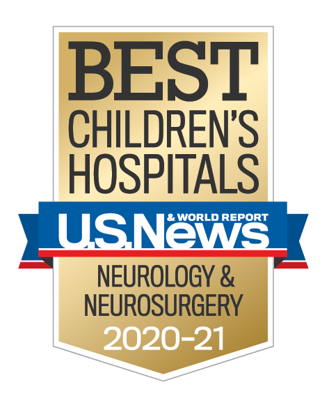 US News & World Report Best Children's Hospital 2020-2021 Neurology and Neurosurgery