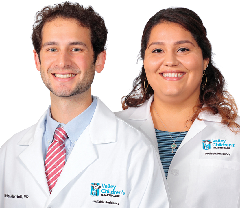 Chief Residents Dr. Dan Merriott and Dr. Cristina Vargas