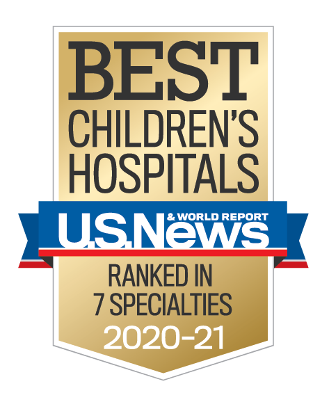 U.S. News & World Report Best Children's Hospitals 2020-2021