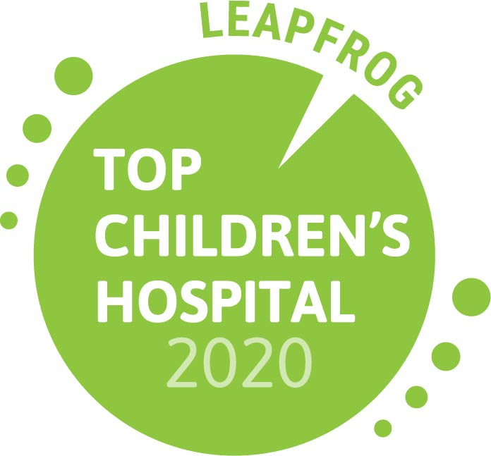 The Leapfrog Group Top Children's Hospital 2019 seal